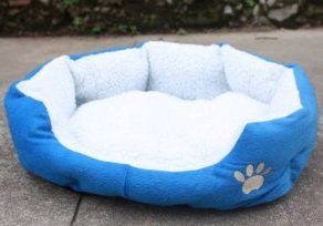 The Sherpa Cotton Fossa Dog Bed Cat Bed Pet Bed Indoor Pink Orange Brown Blue Yellow (blue, 46 x 42cm)