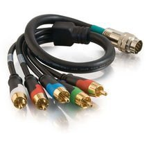 Cables To Go 42072 RapidRun Component Video + Stereo Audio Flying Lead (3 Feet, Black)