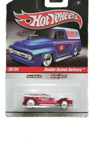 Hot Wheels Real Riders Delivery Trucks No. 30 (#30) of 34 Double Demon Delivery with red metallic paint (2009) - 1