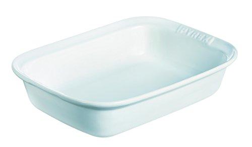 Pyrex Impressions Teglia Rettangolare, Ceramica, Bianco, 31 cm