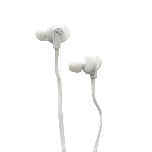 Puma Bulldogs Sport Lite In-Ear Headphones with In-Line Mic (White) (Puma Bulldog Earbuds compare prices)