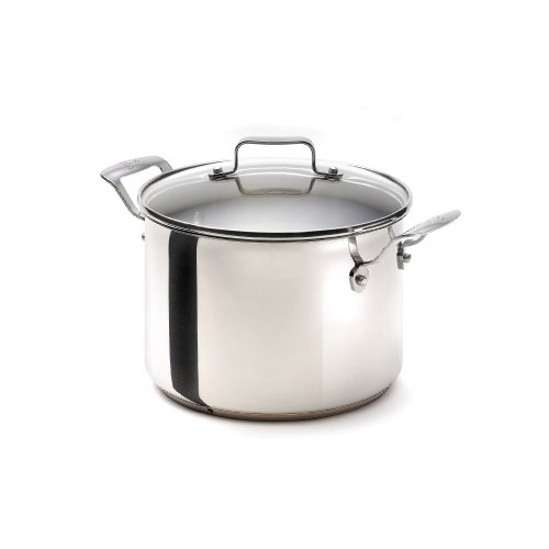 Emeril Stainless Steel with Copper Dishwasher Safe 8-Quart Tall Stock Pot with Lid, Silver (Emerils Cookware compare prices)