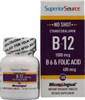 No Shot B6/ B12/ Folic Acid 60 Tablets