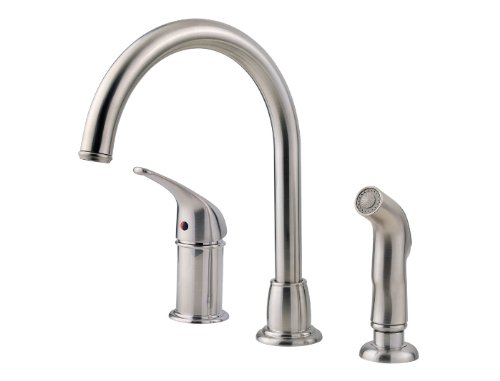 Pfister LF-WK1-680S Cagney 1-Handle Kitchen Faucet with Side Spray in Stainless Steel, 1.8gpm (1 Handle Kitchen Faucet compare prices)