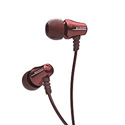 Brainwavz Jive Noise Isolating IEM Earphones With Remote & Mic For Apple iPhones, iPad, iPod & Other iOS Devices (Red-iOS)