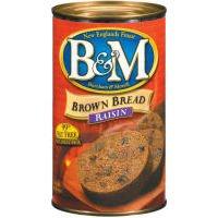 B&M Brown Bread with Raisins, 16 Oz. Can