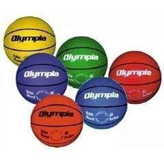Set of 6 Colored Basketballs - Intermediate Size by Olympia Sports