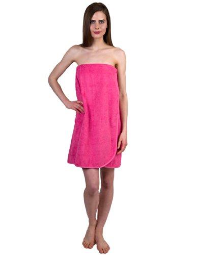 TowelSelections Cotton Terry Bath Towel Shower Wrap for Women X-Large Bubblegum Bub Bath