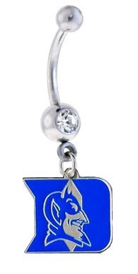 Duke Blue Devils Sexy Belly Navel Ring at Amazon.com