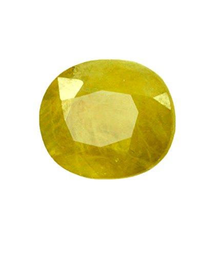 5.00 Ratti Natural Yellow Sapphire - Pukhraj Gemstone with Certificate (Natural Sapphire Stone compare prices)