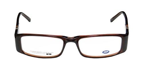 Boots 10w7 Womens/Ladies Rx Ready Sophisticated Designer Full-rim Eyeglasses/Eyeglass Frame (51-16-135, Transparent Brown / Clear / Multicolor) Gas Arm Leg