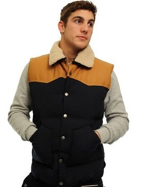 Criminal Damage Musket Gilet Navy: Medium