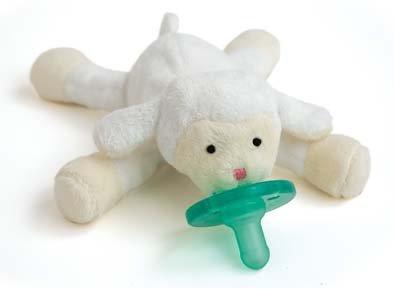 WubbaNub 赤ちゃんのぜいたくおしゃぶり ひつじ