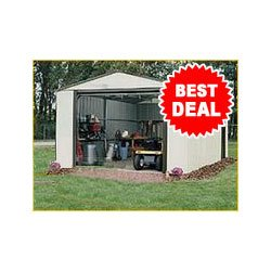 Arrow Vinyl Utility Storage Building – 12ft. x 24ft., Model# VT1224