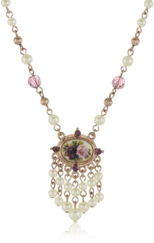 1928 Bridal Manor House Beaded Pendant Necklace