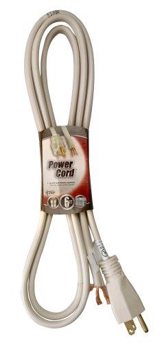 Coleman Cable 09746 14/3 Appliance Replacement Cord, 15-Amp 125-Volt Spt-3, 6-Foot