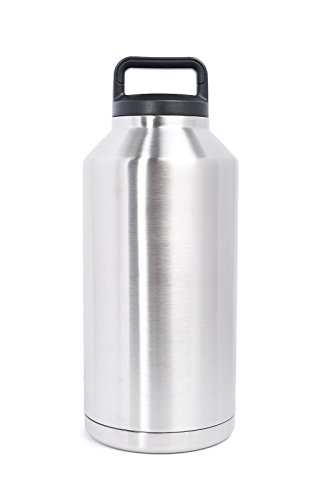 64 OZ Stainless Steel Double Wall Vacuum Insulated Twist Cap Leak-Proof & Spill-Proof Travel Outdoor Rambler Keg Growler Bottle Thermos Flask Beverage Cooler Great 4 Coffee,Beer,Water. Same as Yeti (Coolers Thermos compare prices)