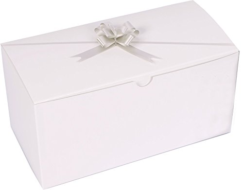 Set of 10 White Gift Boxes (9x4.5x4.5