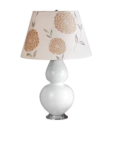 Laura Ashley Mavis Table Lamp With Erin Shade, White/Gold