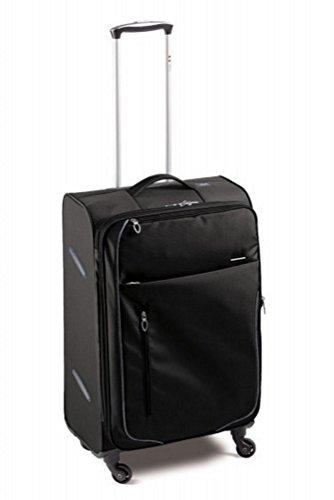 Trolley da-Ultralight soli 2,9kg-capacità: 100/115-80x 47x 32-35cm, italiana. Design (Meta CR- 425101), nero