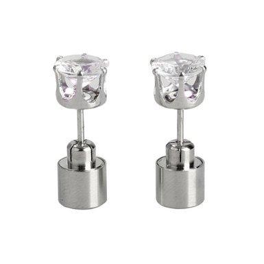 Rokou Outstanding Light Glowing Led Earrings Ear Drop Crystal Pendant (Color Changing)