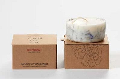 Juniper And Limonium Soy Wax Candle by Munio Candela