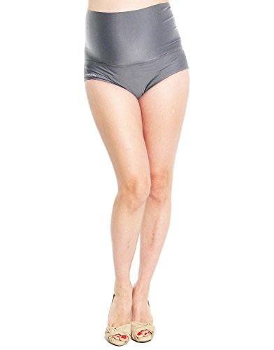 Oceanlily Maternity Over the Belly Bikini Swim Bottom Charcoal L