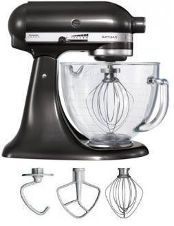 KitchenAid Artisan Stand Mixer in Black Storm with Glass Bowl 5KSM156BBZ KitchenAid from Kitchenaid