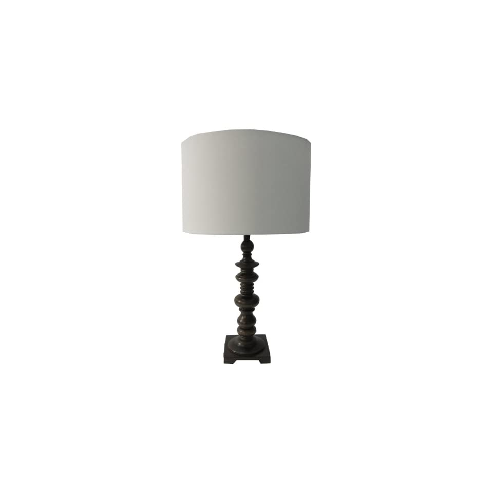 Yosemite Home Decor PTL894 25.5 Inch Table Lamp with White Drum Shade