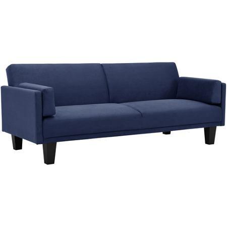Metro Microfiber Futon Sofa Bed, Navy