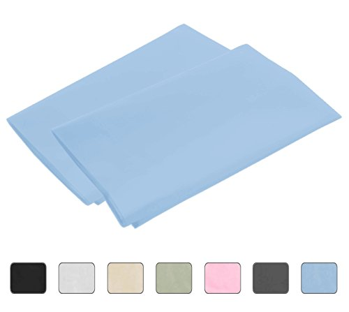 Light-Blue-Standard-4-Hems-Set-of-2-Pillowcases-300-Thread-Count-100-Long-Staple-Egyptian-Cotton-Luxury-Hotel-Quality-21x32-fits-20x26