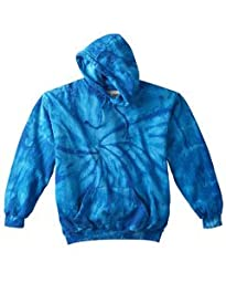 Tie-Dye 8.5 oz 100% Cotton Pullover Hood, Large, SPIDER ROYAL