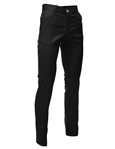 FLATSEVEN Mens Slim Fit Chino Pants Trouser Premium Cotton