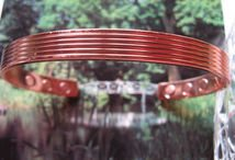 Men's Solid Copper 9 Inch Magnetic Cuff Bracelet #957