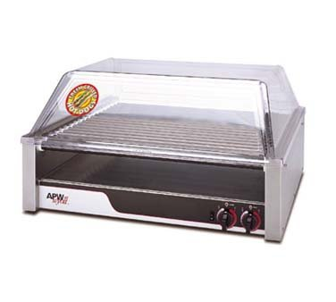 Apw Wyott Hr-50 50 Hot Dog Roller Grill - Flat Top, 120V, Each