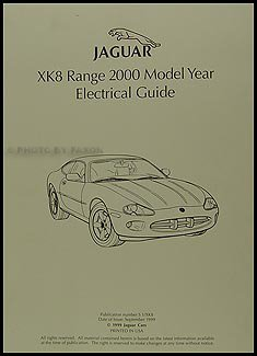 2000 jaguar xk8 electrical guide wiring diagram original jaguar