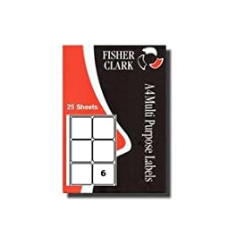 25 x A4 Papier Étiquettes Adresse Vièrges (6 Par Feuille) Compatible Avery L7166