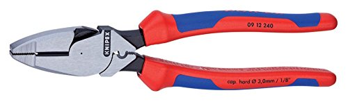 High Leverage Lineman Pliers With Fish Tape Puller And Comfort Grip