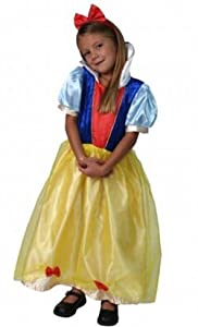 Child Storybook Princess Snow White Costume for Dress Up Fun! (shoes not included)