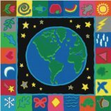 "Joy Carpets Kid Essentials Geography & Environment EarthWorks Rug, Multicolored, 5'4"" x 7'8"""