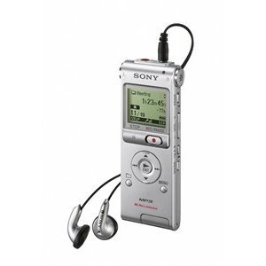Sony ICD-UX200 Digital Voice Recorder with Built-In Stereo Microphone (Silver)