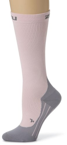 2XU Women's Race Compression Sock Pink bsh/gry Size:L