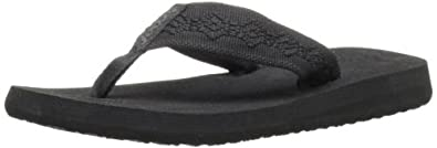 Reef Women's Sandy Flip Flop,Black/Black,5 M