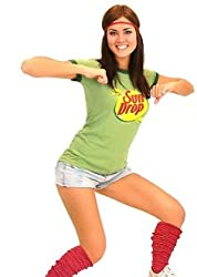 Women's Sun Drop T-shirt Headband and Leg Warmers Set