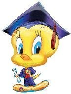 "Tweety Grad 32"" Super Shape Balloon - 1"