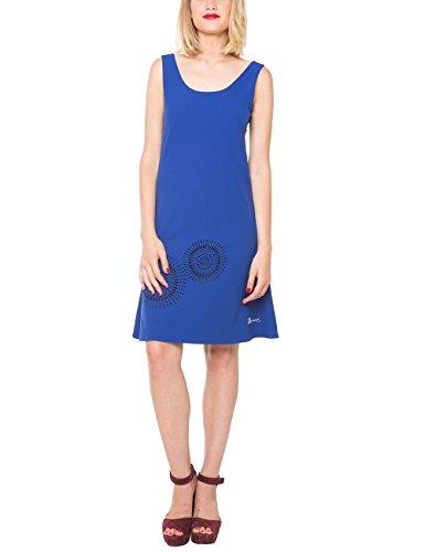Desigual Damen A-Linie Kleid BARCELONETA, Knielang, Gr. 38 (Herstellergröße: 40), Blau (SURF THE WEB 5167) thumbnail