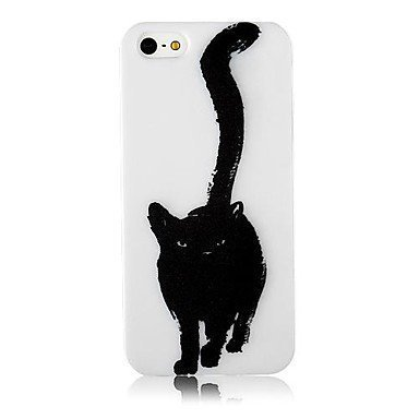 Black Cat Phone Case [Customizable by Buyers] [Create Your Own Phone Case] Slim Fitted Hard Protector Cover for iphone 6 Plus 5.5inch