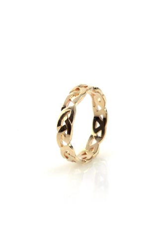 9ct Yellow Gold Celtic Open Love Knot Design Wedding Band - Size N