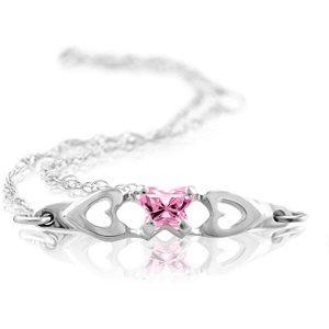 Genuine IceCarats Designer Jewelry Gift 10K White Gold Bfly Cz Birthsto Brc W/Box. October Brc W/Box Bfly Cz Birthsto Brc W/Box In 10K White Gold