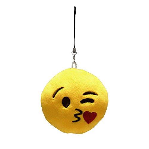 Mignon emoji porte cl s pendentif peluche cha ne de cl s for Decoration porte novembre